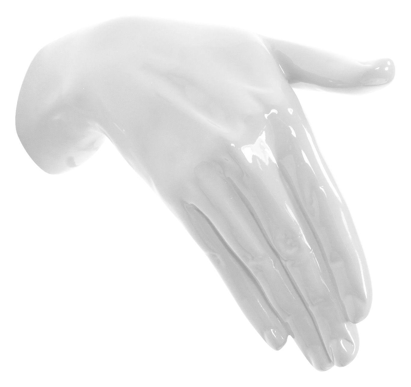 Arredamento - Appendiabiti  - Appendiabiti Hand Job - Shake di Thelermont Hupton - Bianco - Resina laccata