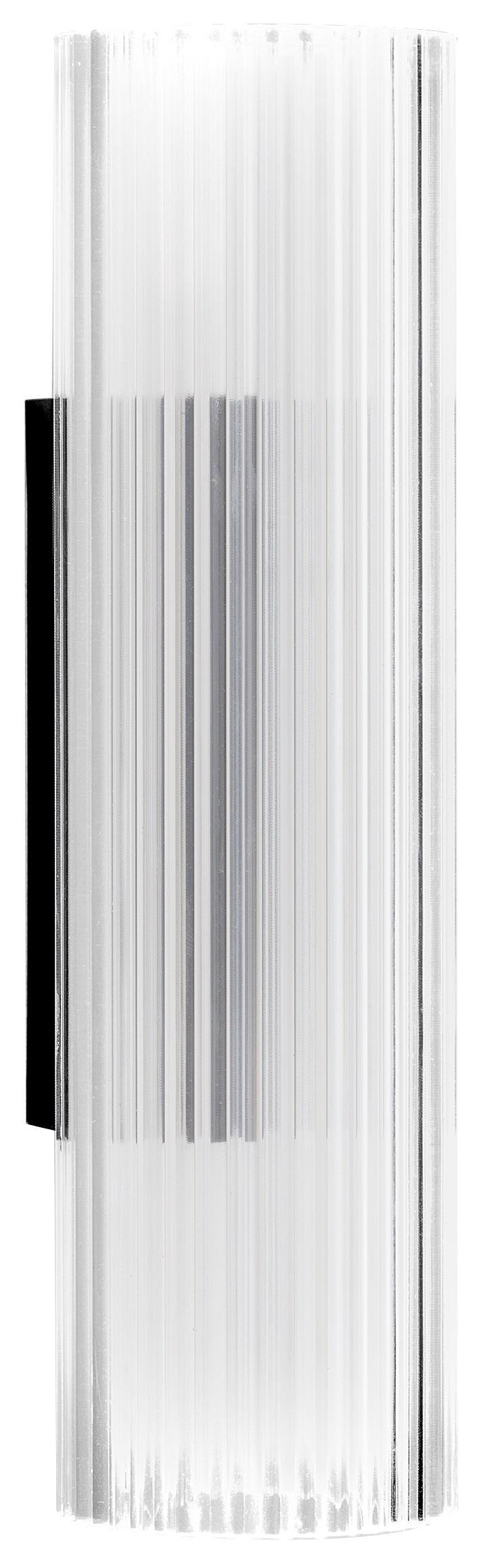 Luminaire - Appliques - Applique Rifly / LED H 30 cm - Kartell - Cristal - Polycarbonate plissé