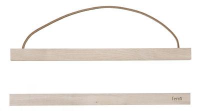 Dekoration - Dekorationsartikel - Wooden Small Bilderrahmen / L 31 cm - Ferm Living - Ahorn - Ahorn, Leder