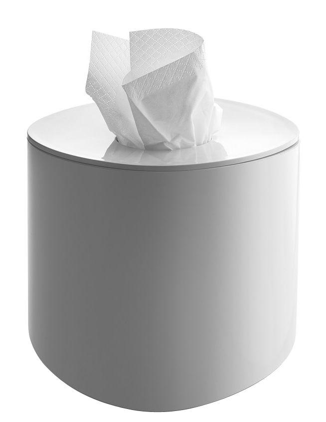 Accessoires - Accessoires salle de bains - Boîte à mouchoirs Birillo / 15 x 15 cm - Alessi - Blanc - PMMA