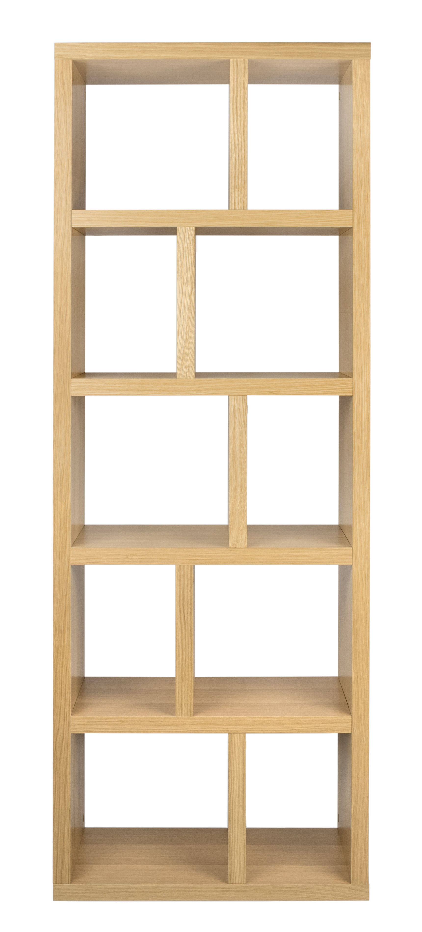 Furniture - Bookcases & Bookshelves - Rotterdam Bookcase - / L 70 x H 198 cm by POP UP HOME - Oak - Oak veneered honeycomb panels