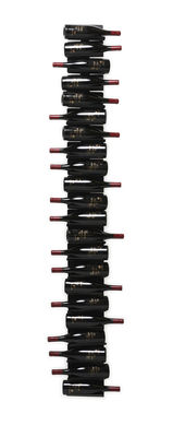 Tableware - Wine Accessories - Ptolomeo Vino Bottle holder - / Mural - H 208 cm by Opinion Ciatti - Black - Lacquered metal