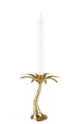 Bougeoir Palmier Small / H 16 cm - & klevering laiton en métal