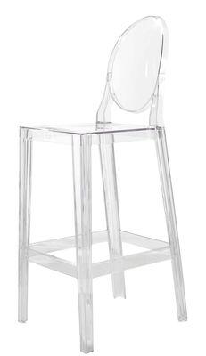 Chaise de bar One more / H 65cm - Plastique - Kartell cristal en matière plastique