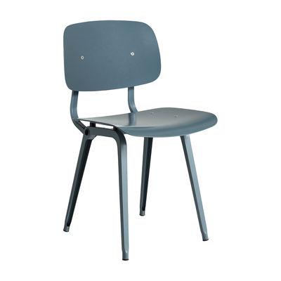 Mobilier - Chaises, fauteuils de salle à manger - Chaise Revolt / Réédition 1950' - Hay - Bleu Océan / Pieds Bleu Océan - ABS recyclé, Acier thermolaqué