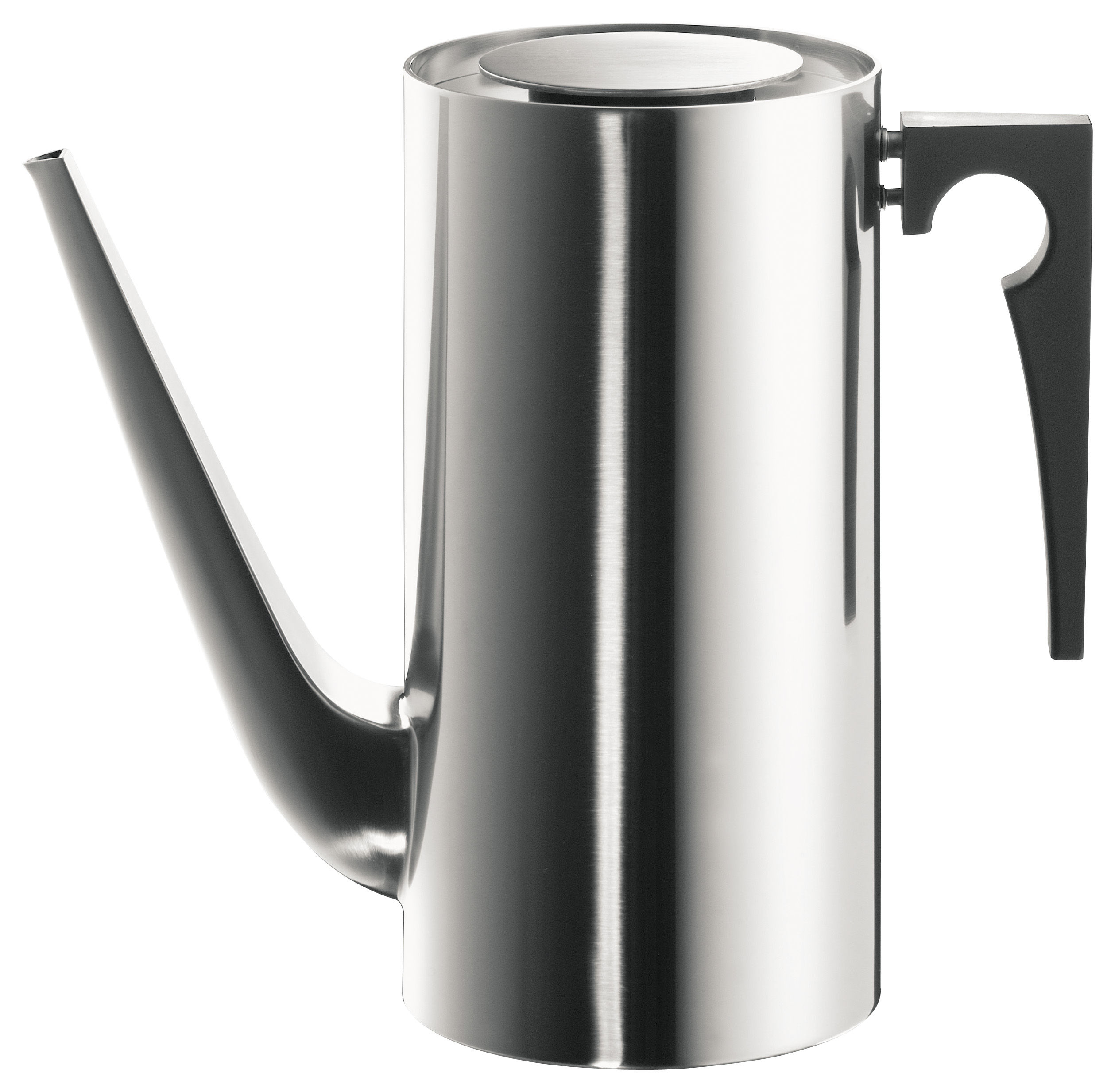 Tableware - Tea & Coffee Accessories - Cylinda Line Coffee pot by Stelton - Satin polished steel - 1,5 L - Polished stainless steel