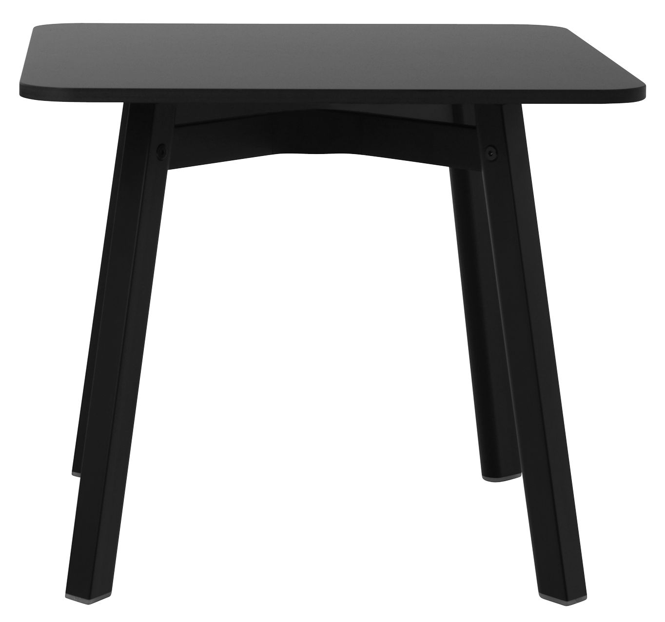 Furniture - Coffee Tables - Su Coffee table - / 55 x 55 cm by Emeco - Black - Aluminium recyclé, HPL