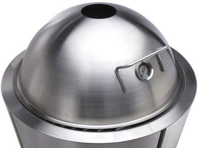 Outdoor - Barbecue - Coperchio a cupola - con termometro Ø 60 cm / Per barbecue a carbone Eva Solo Ø 59 cm di Eva Solo - Inox - Acciaio inossidabile