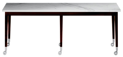 Möbel - Couchtische - Neoz Couchtisch Rechteckig - Driade - Ebenholz / Marmor - Mahagoni, Marmor