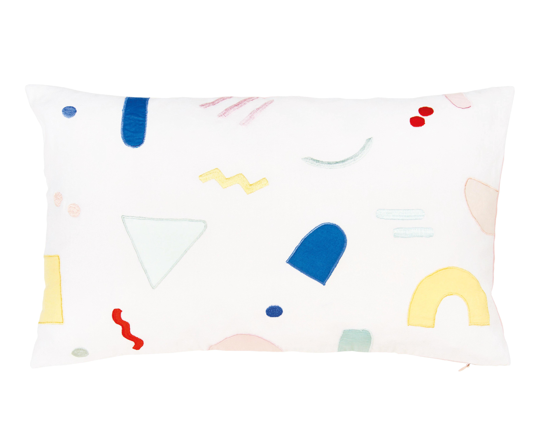 Déco - Coussins - Coussin Painted graphic / 50 x 30 cm - & klevering - 50 x 30 / Multicolore - Coton