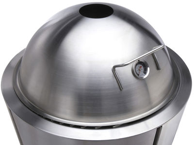 Jardin - Barbecues et braséros - Couvercle-dôme avec thermomètre Ø 60 cm / Pour barbecue à charbon Eva Solo Ø 59 cm - Eva Solo - Inox - Acier inoxydable