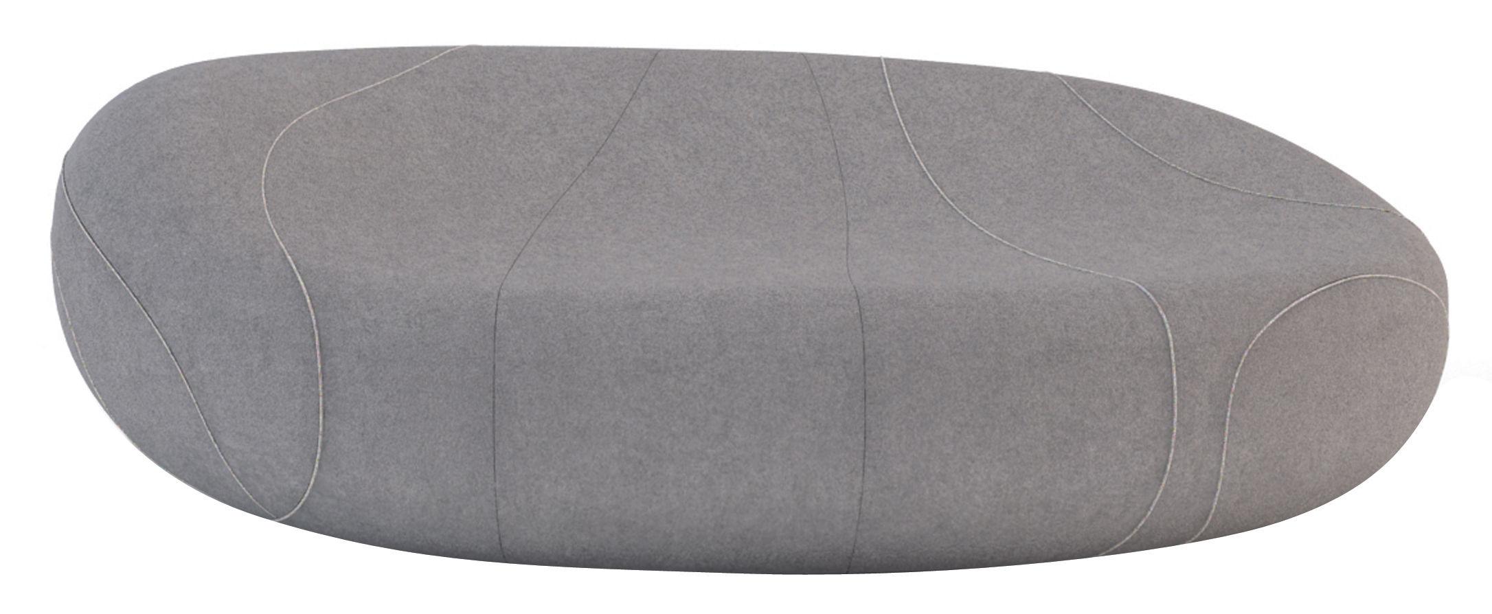 Arredamento - Divani moderni - Divano destro Gilda Livingstones - Versione in lana da interno di Smarin - Grigio scuro - 200 x 140 cm / H 70 cm - Bultex, Lana
