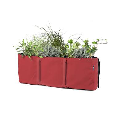 Jardin - Pots et plantes - Jardinière à suspendre Accrochée 3 / Batyline® Outdoor - 25L - Bacsac - Cerise - Toile Batyline®