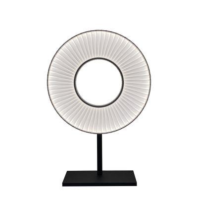 Luminaire - Lampes de table - Lampe de table Iris LED / H 61 cm - Tissu & éclairage recto-verso - Dix Heures Dix - Blanc & noir - Métal laqué, Tissu polyester