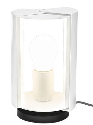 Lampe de table Pivotante by Charlotte Perriand / Réédition 1962 - Nemo blanc en métal