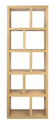 Arredamento - Scaffali e librerie - Libreria Rotterdam / L 70 x H 198 cm - POP UP HOME - Rovere - Pannelli a nido d'ape impiallacciati in rovere