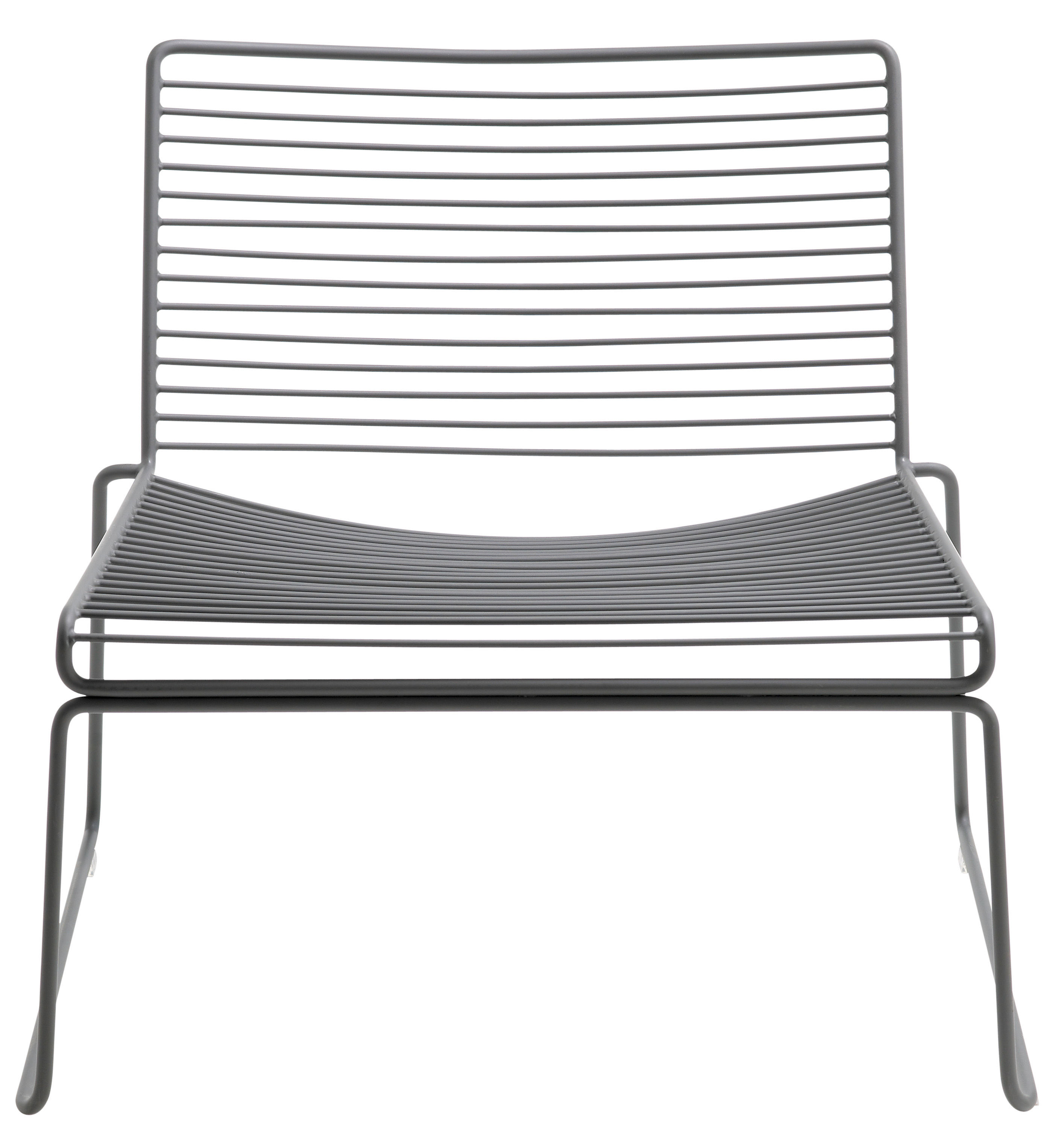 Möbel - Lounge Sessel - Hee Lounge Sessel Clubsessel - Hay - Grau - lackierter Stahl