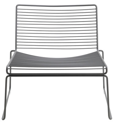 Furniture - Armchairs - Hee Low armchair by Hay - Grey - Lacquered steel