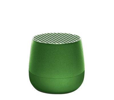 Dossiers - San Valentino - Mini cassa acustica Bletooth Mino 3W - / Wireless - Ricarica USB di Lexon - Verde scuro - ABS, Alluminio