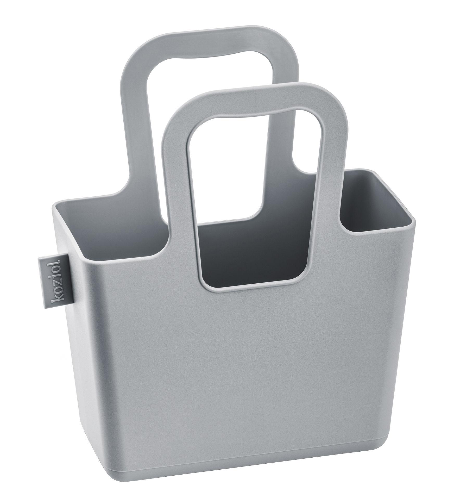 Accessoires - Sacs, trousses, porte-monnaie... - Panier Taschelini / L 18 x H 16 cm - Koziol - Gris clair - Matière plastique
