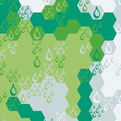 Dekoration - Stickers und Tapeten - WallpaperLab Nested paper Panorama-Tapete / 8 Bahnen - limitierte Auflage - Domestic - Nested paper / grün - imprägniertes Papier