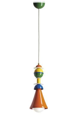 Lighting - Pendant Lighting - Otello Pendant - / Metal - H 32 cm by Slide - Multicoloured - Lacquered aluminium