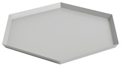 Tavola - Vassoi  - Piano/vassoio Kaleido XL - / 45 x 39 cm di Hay - Grigio - Acciaio verniciato