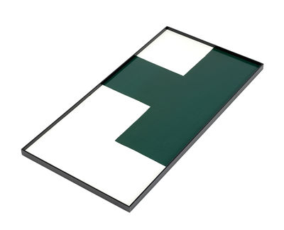 Plateau / Bois - 60 x 30 cm - Serax blanc/vert en bois