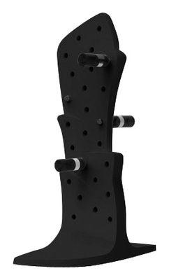 Interni - Contenitori e Cesti - Portabottiglie Malbec di Slide - Nero - Polietilene riciclabile a stampaggio rotazionale