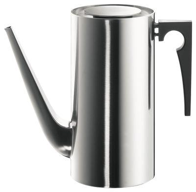 Arts de la table - Thé et café - Pot à café Cylinda Line / 1,5 L - Arne Jacobsen, 1967 - Stelton - Acier - Acier inoxydable poli