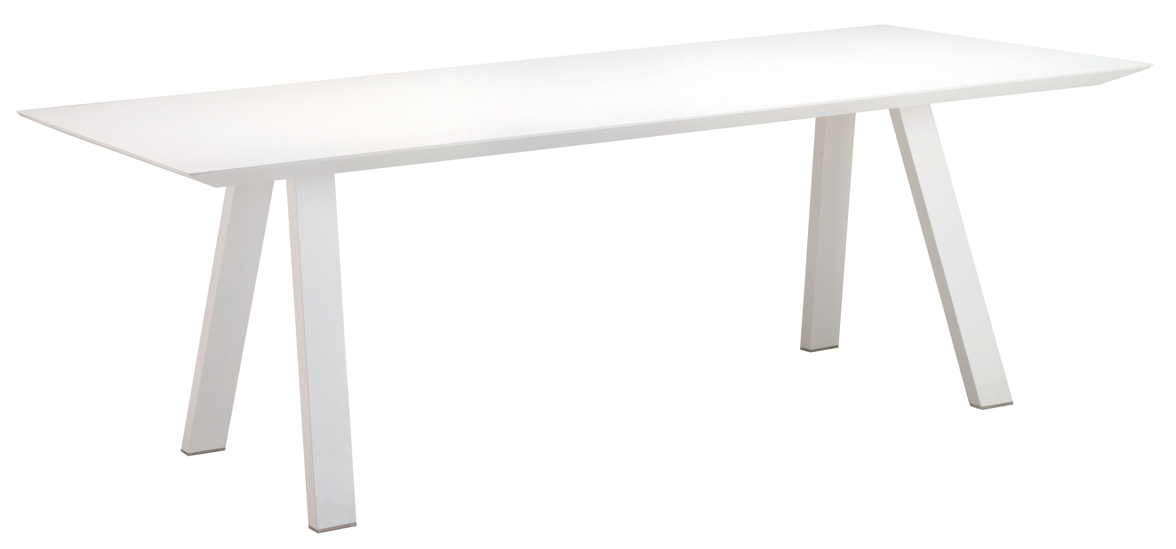 Outdoor - Garden Tables - Vanity Rectangular table - 220 x 110 cm - Aluminium by Vlaemynck - White - Lacquered aluminium