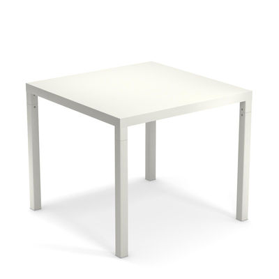 Outdoor - Garden Tables - Nova Square table - / Metal - 90 x 90 cm by Emu - White - Varnished steel