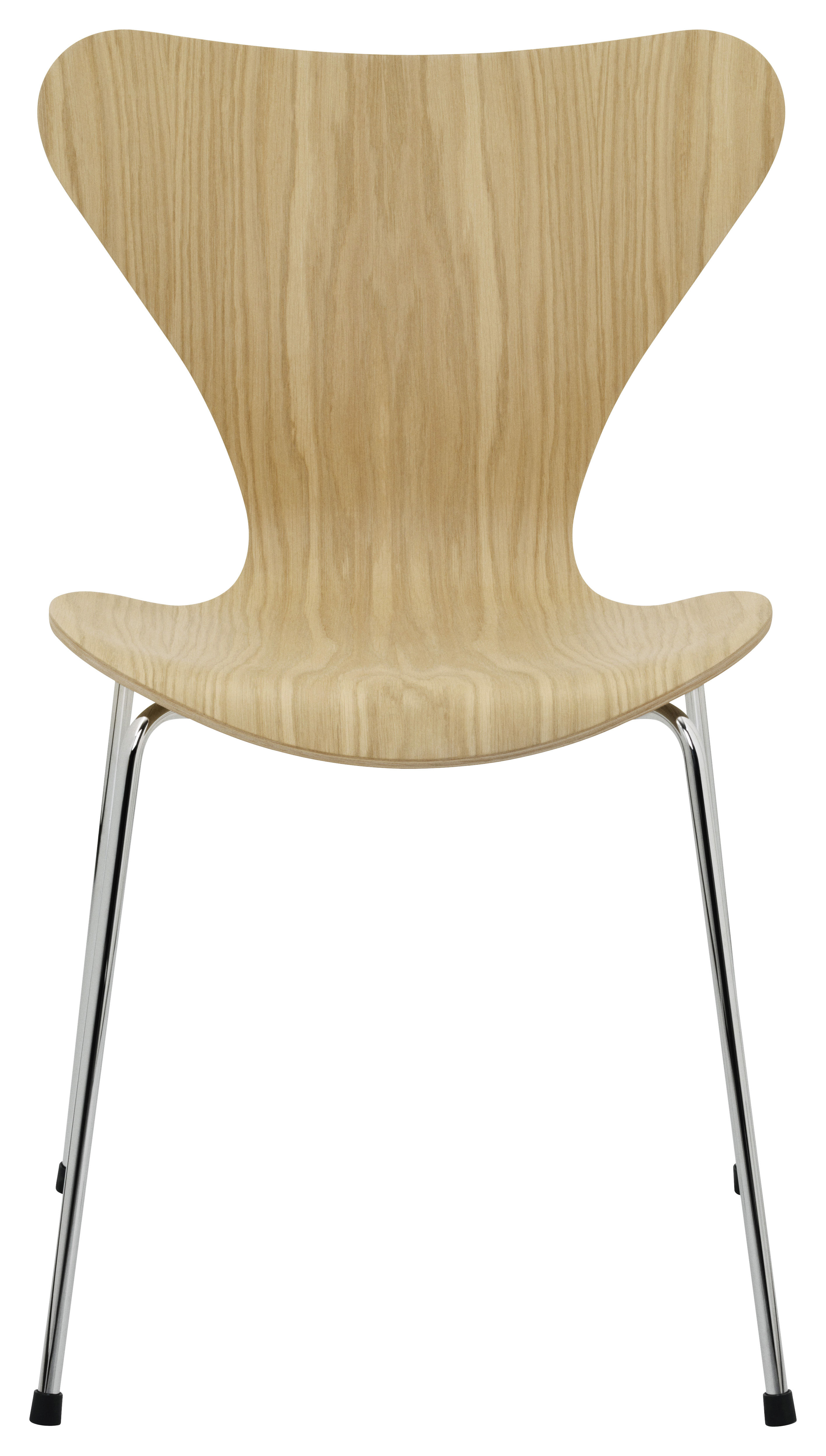 Furniture - Chairs - Série 7 Stacking chair - Natural wood by Fritz Hansen - Oak - Steel, Varnished oak plywood