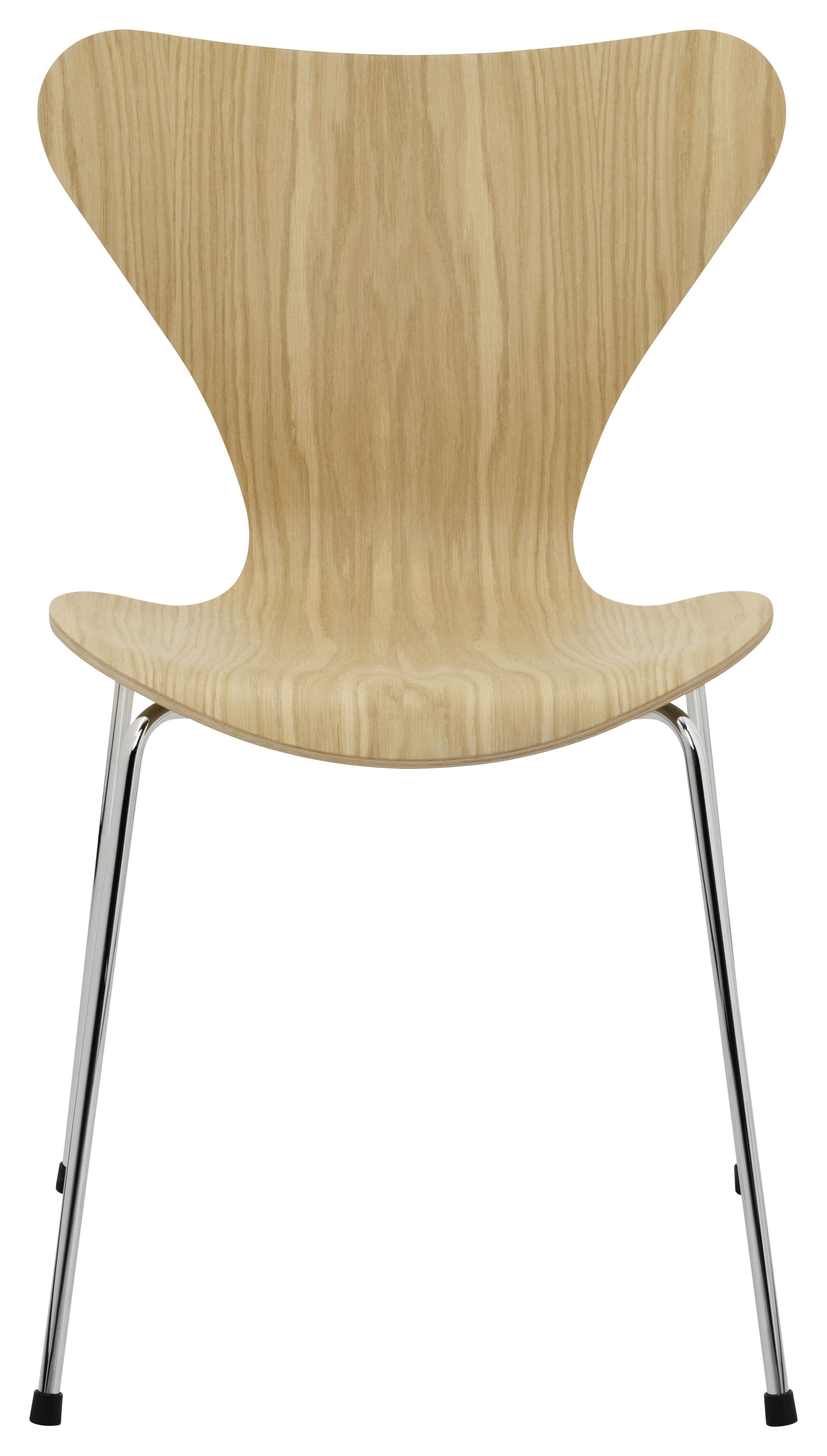 Möbel - Stühle  - Série 7 Stapelbarer Stuhl Holz natur - Fritz Hansen - Eiche - klarlackbeschichtetes Eichenholzfurnier, Stahl