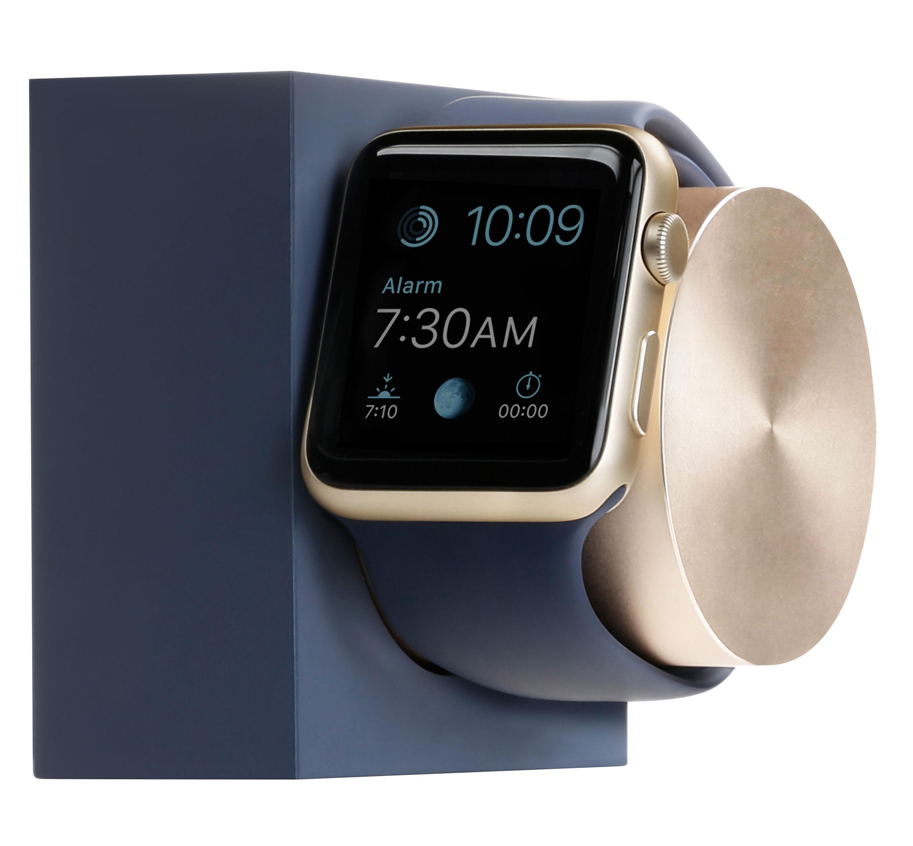 Accessoires - Objets connectés, accessoires high tech - Station d'accueil pour Apple Watch - Native Union - Bleu / Métal doré - Alliage de zinc, Aluminium, Silicone