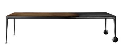 Table à rallonge Big Will / L 200 à 300 cm - Noyer - Magis noir,noyer naturel en métal