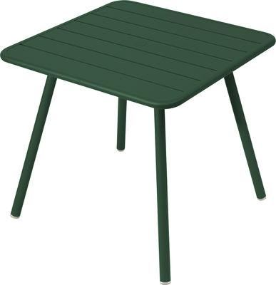 Table Luxembourg / 80 x 80 cm - 4 pieds - Fermob cèdre en métal