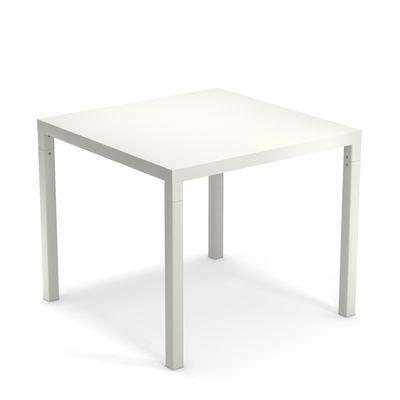 Table carrée Nova / Métal - 90 x 90 cm - Emu blanc en métal