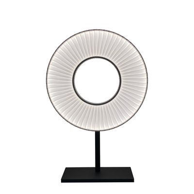 Lighting - Table Lamps - Iris Table lamp - LED / H 61 cm - Fabric & double-sided lighting by Dix Heures Dix - White & black - Lacquered metal, Polyester fabric