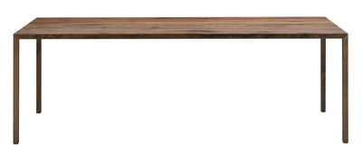 Mobilier - Tables - Table rectangulaire Tense Material / 90 x 200 cm - Chêne naturel - MDF Italia - Chêne naturel - Panneau composite, Placage chêne massif