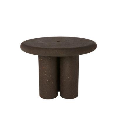 Mobilier - Tables - Table ronde Cork / Liège recyclé - Ø 100 cm - Tom Dixon - Marron foncé - Liège recyclé brûlé