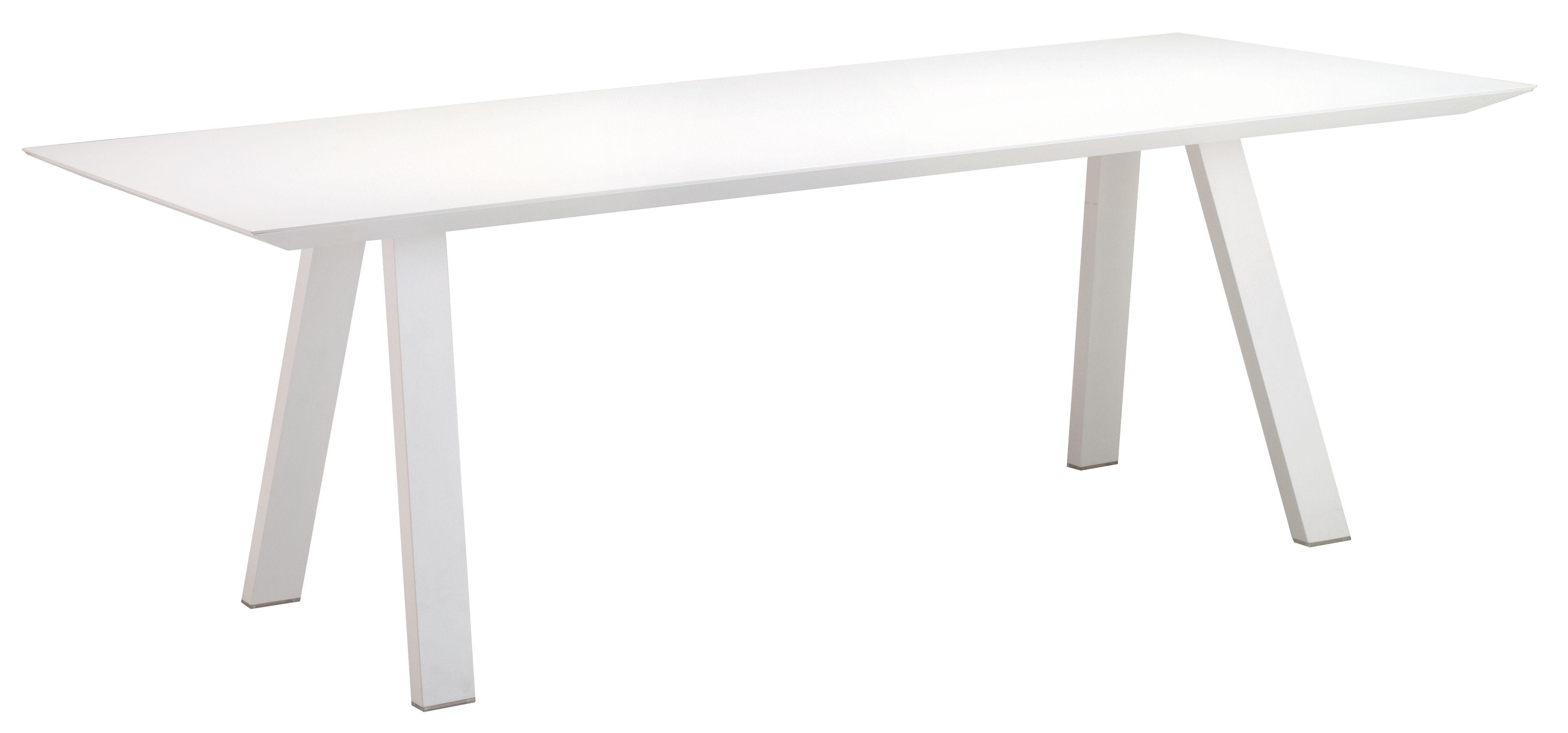 Jardin - Tables de jardin - Table Vanity / 220 x 110 cm - Aluminium - Vlaemynck - Blanc - Aluminium laqué