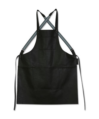 Tablier cuir / Bretelles croisées - Dutchdeluxes noir en cuir