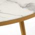Tavolino - / Ø 80 x H 35 - Effetto Marmo di Pols Potten