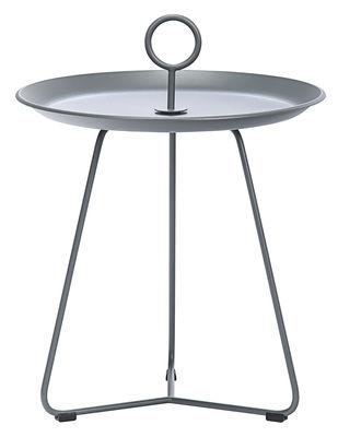 Arredamento - Tavolini  - Tavolino basso Eyelet Small / Ø 45 x H 46,5 cm - Houe - Grigio scuro - Metallo rivestito in resina epossidica