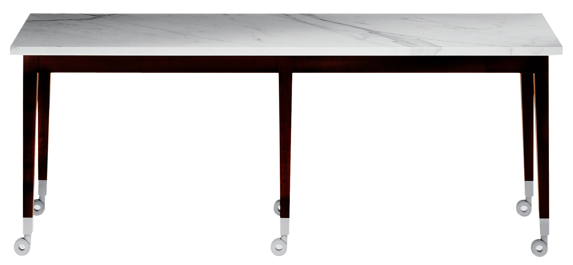 Arredamento - Tavolini  - Tavolino Neoz - Rettangolare di Driade - Ebano/marmo - Marmo, Mogano