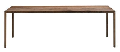 Arredamento - Tavoli - Tavolo Tense Material / 90 x 200 cm - Quercia - MDF Italia - Quercia naturale - Impiallacciatura rovere massello, Pannello composito