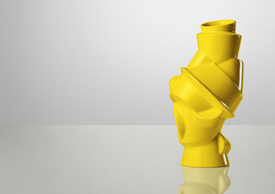 Decoration - Vases - Closely Separated Vase by Muuto - Yellow - Earthenware