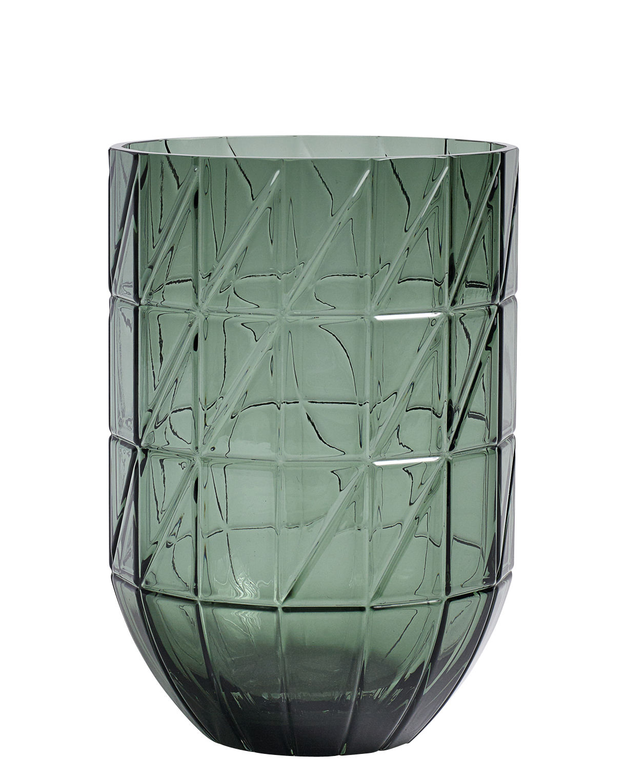 Decoration - Vases - Colour Large Vase - Ø 13 x H 27,5 cm by Hay - Green - Blown glass