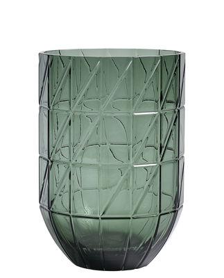 Vase Colour Large / Ø 13.5 x H 19 cm - Hay vert en verre